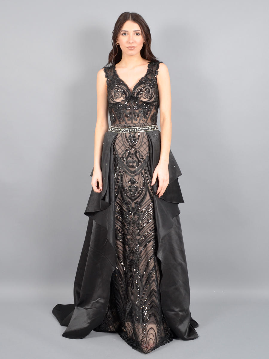 ASPEED - 2 Piece Satin Lace Bead Gown