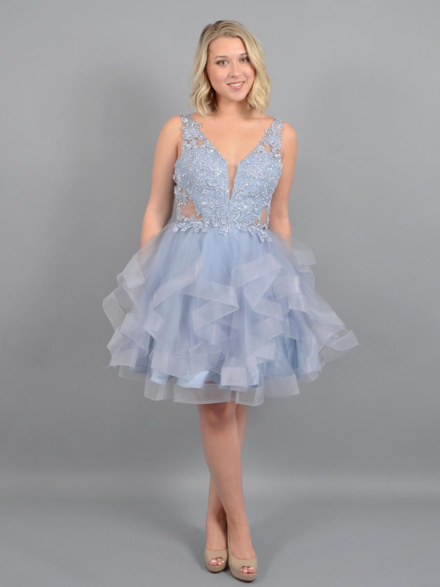 ASPEED - Tulle Flair Dress-Bead Bodice Shawl
