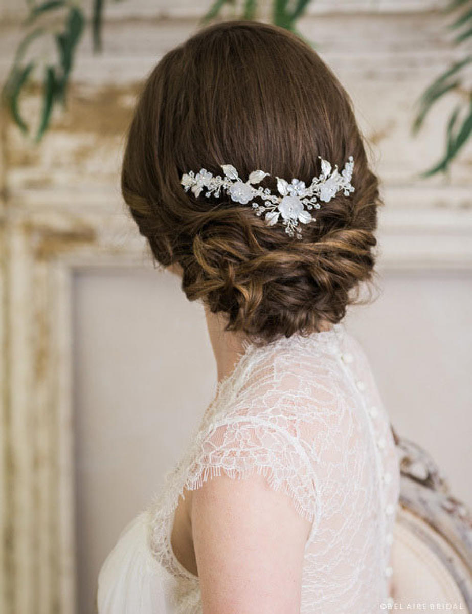 BELAIRE BRIDAL - Frosted flwr/leaves