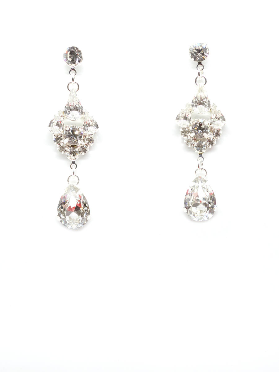 BELAIRE BRIDAL - Rhinestone Drop Earring