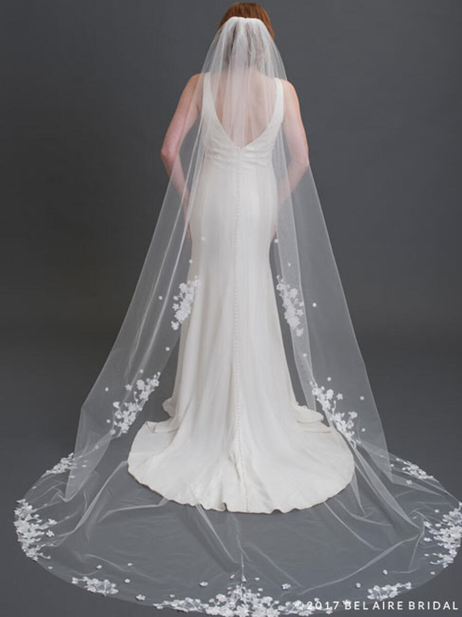 BELAIRE BRIDAL - Cath W/flowers and lace