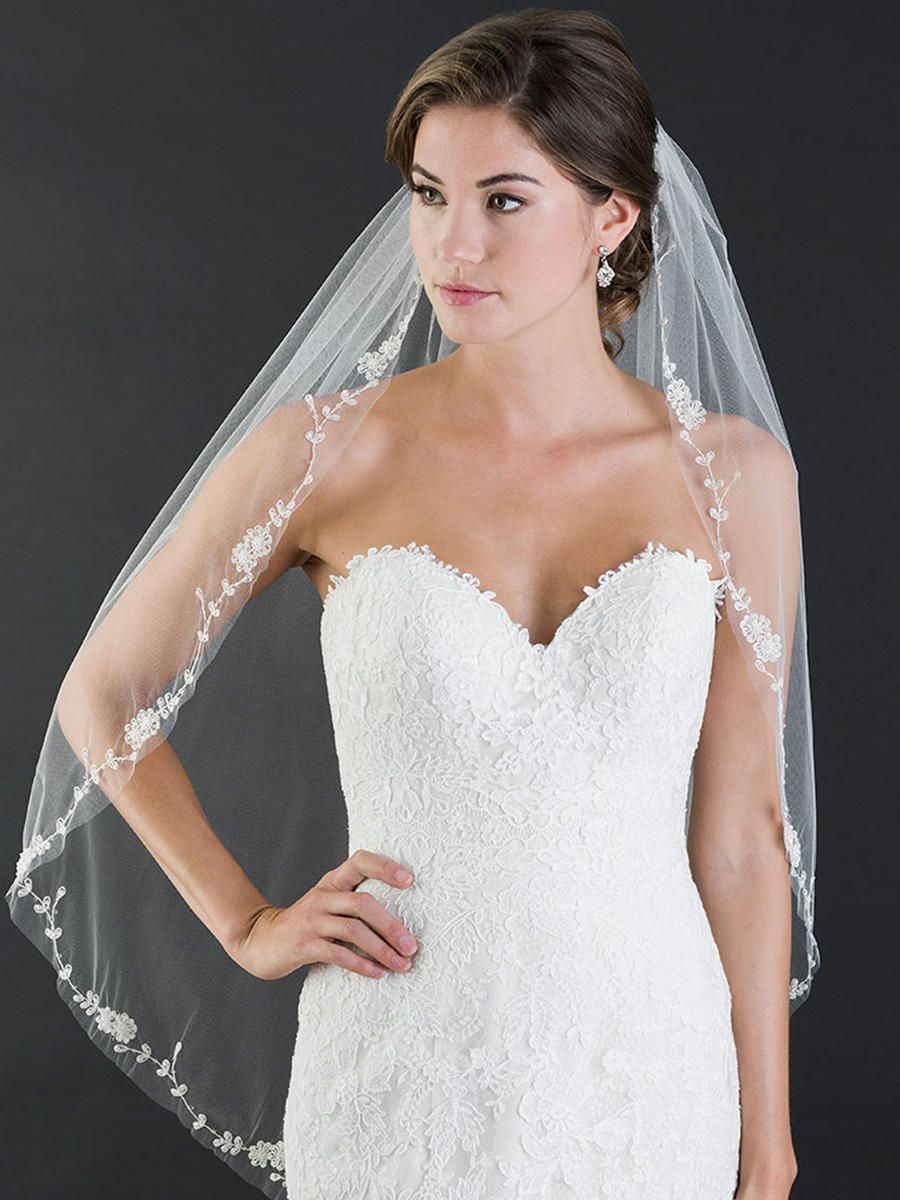 BELAIRE BRIDAL - Beaded Embroidered Flowers