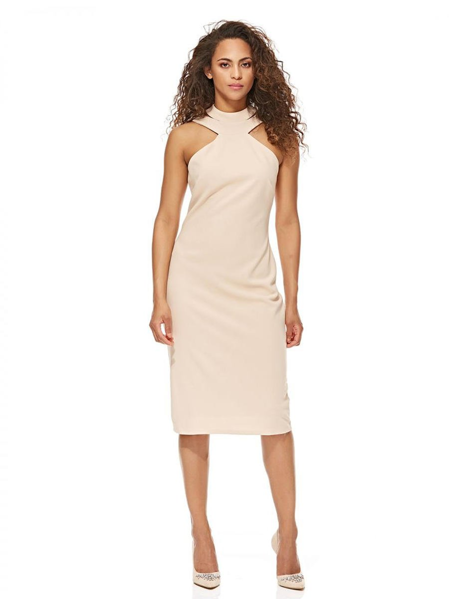 BEBE - Jersey Halter Neck Sheath Dress