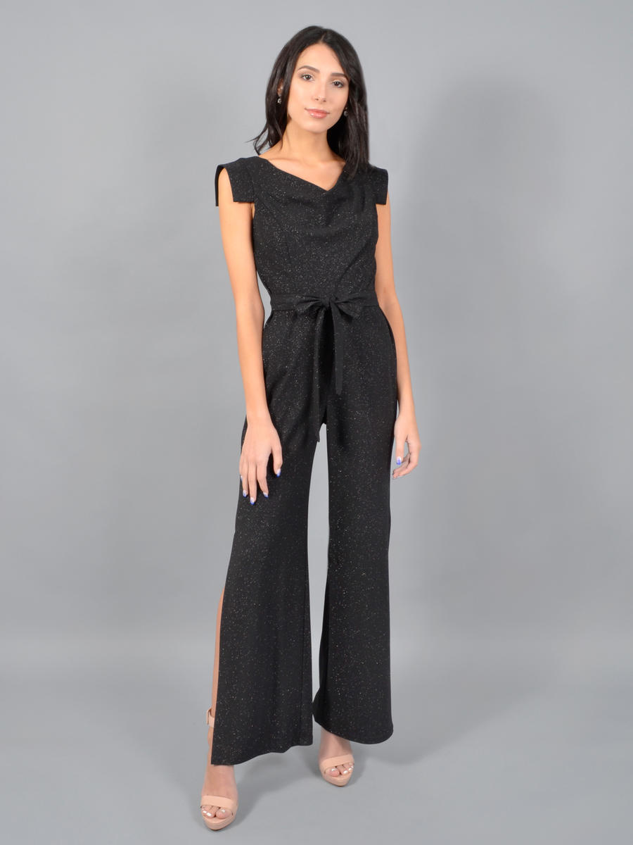 BEBE - Metallic Jumpsuit-Cap Sleeve