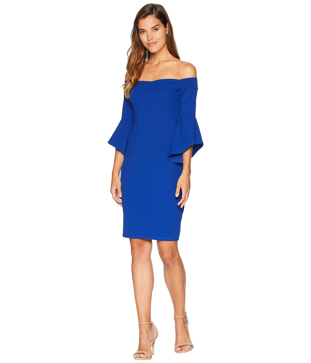 BEBE - Off-the-Shoulder Bell Sleeve Cocktail Dress