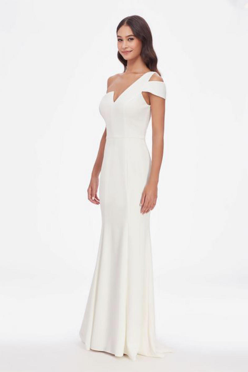 Jersey One Shoulder Gown