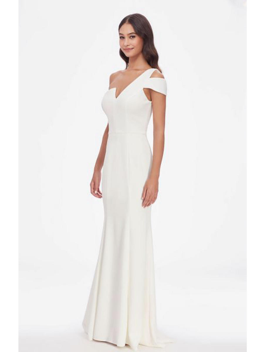 Betsy & Adam, Ltd. - One-Shoulder Fit & Flare Gown