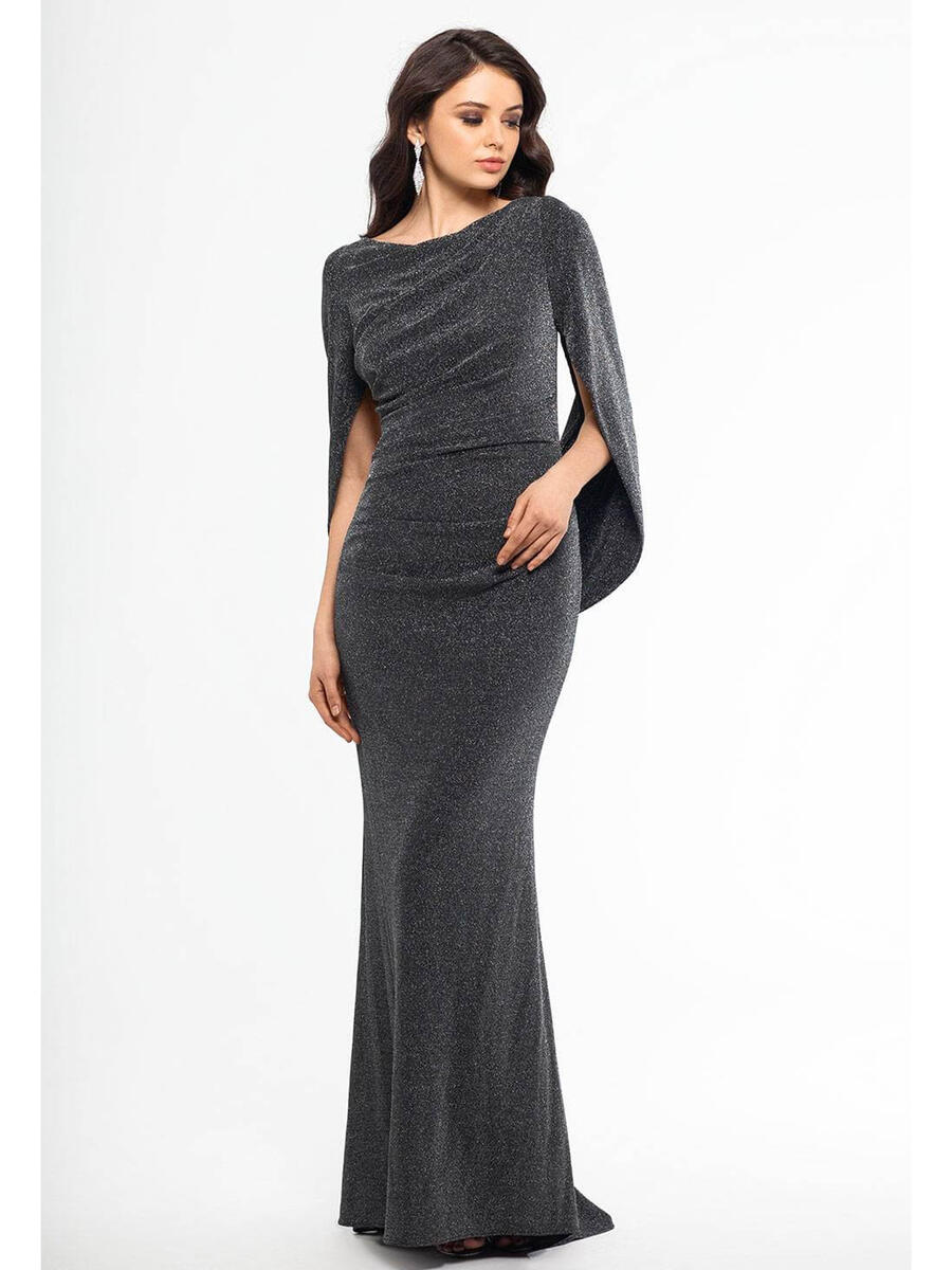 Betsy & Adam, Ltd. - Metallic Gown Back Drape