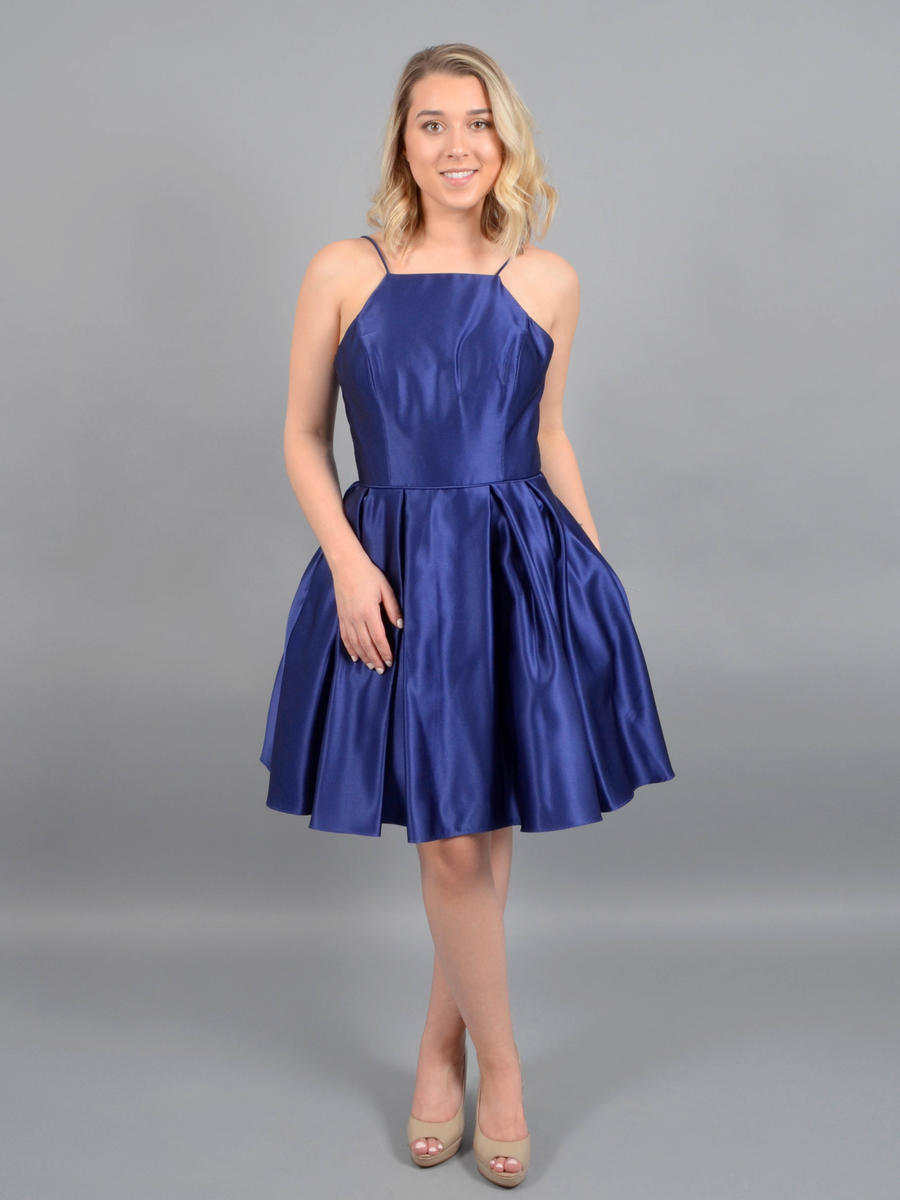 Betsy & Adam, Ltd. - Satin Dress-Spaghetti Strap