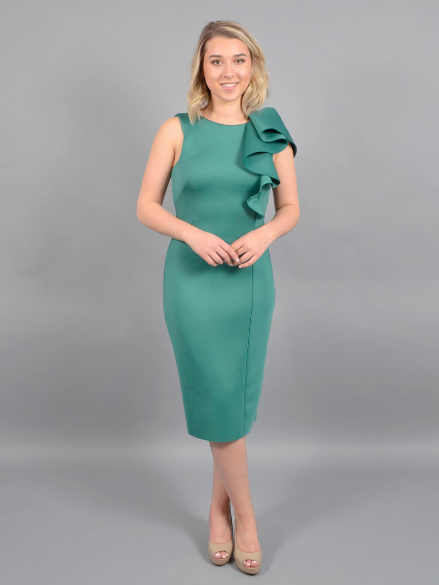 Betsy & Adam, Ltd. - Jersey Dress-Ruffle
