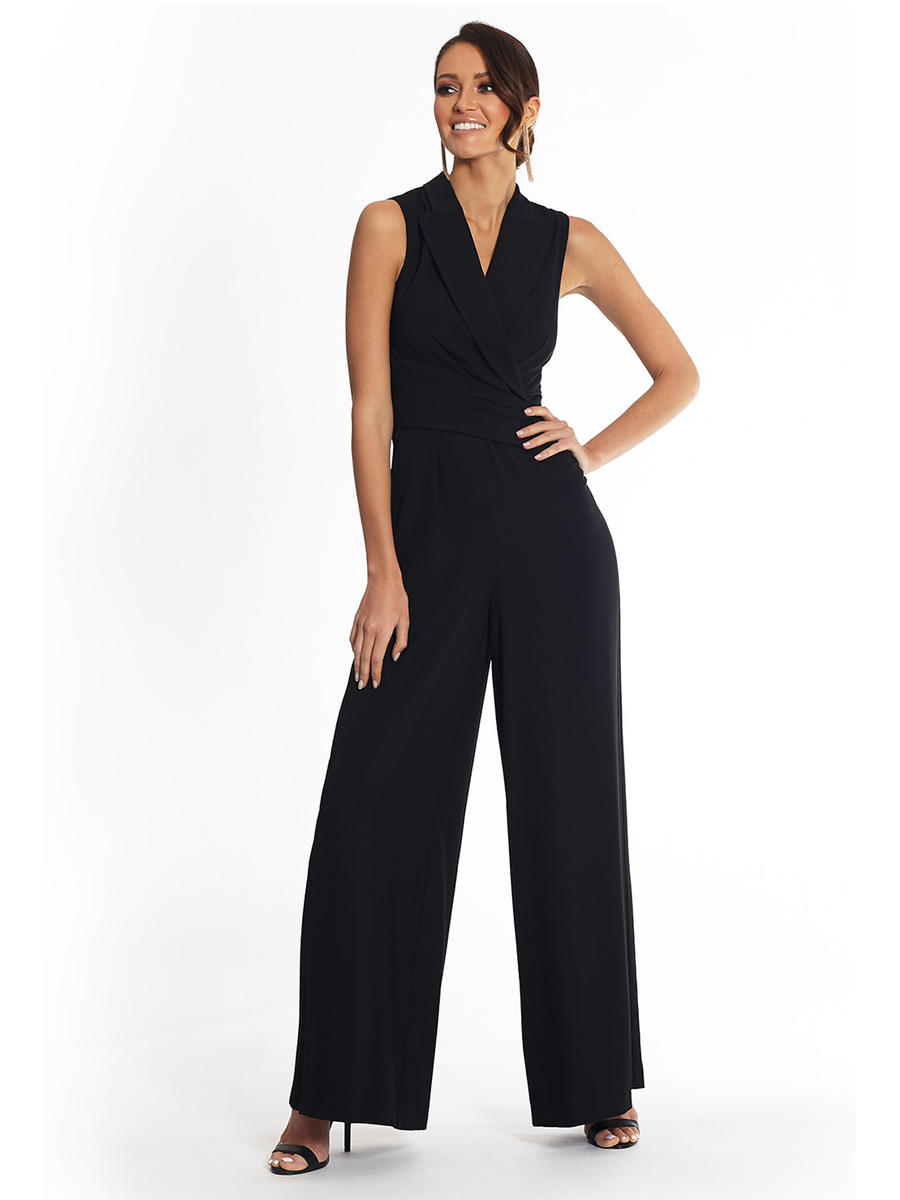 Betsy & Adam, Ltd. - Jersey Jumpsuit-Wrap Waist