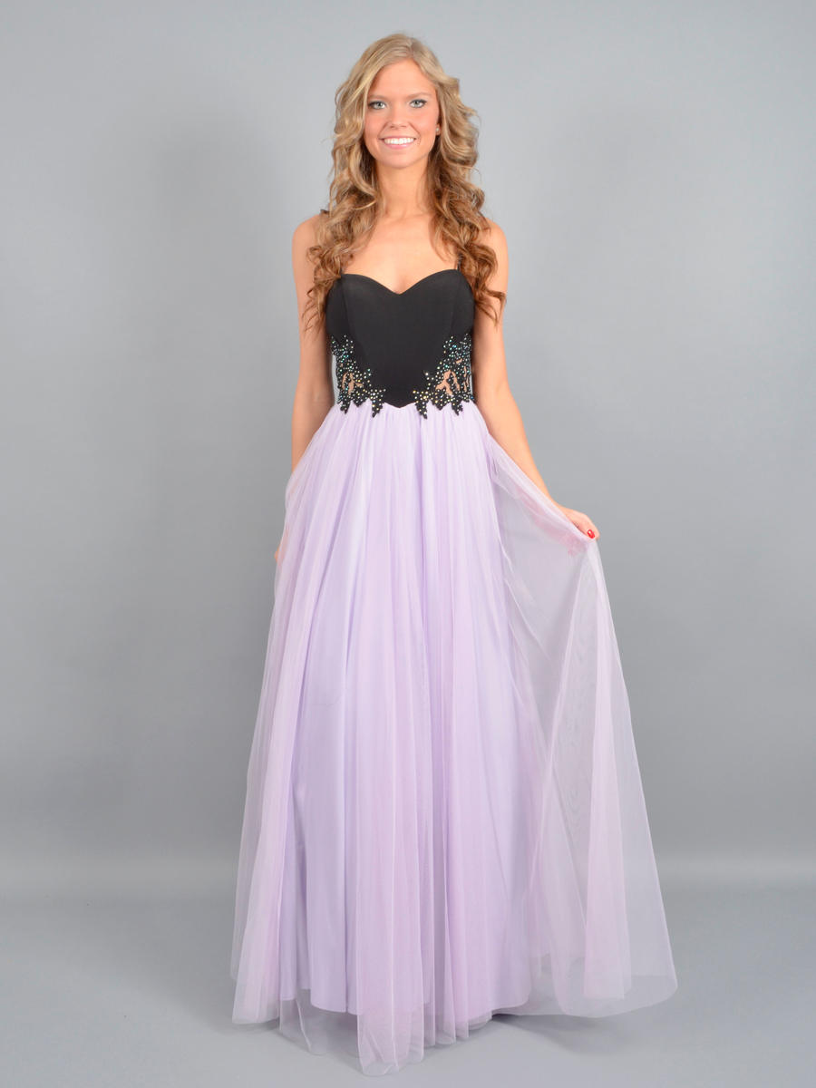 BLONDIE NITE - Sleeveless Embroidered Tulle Gown