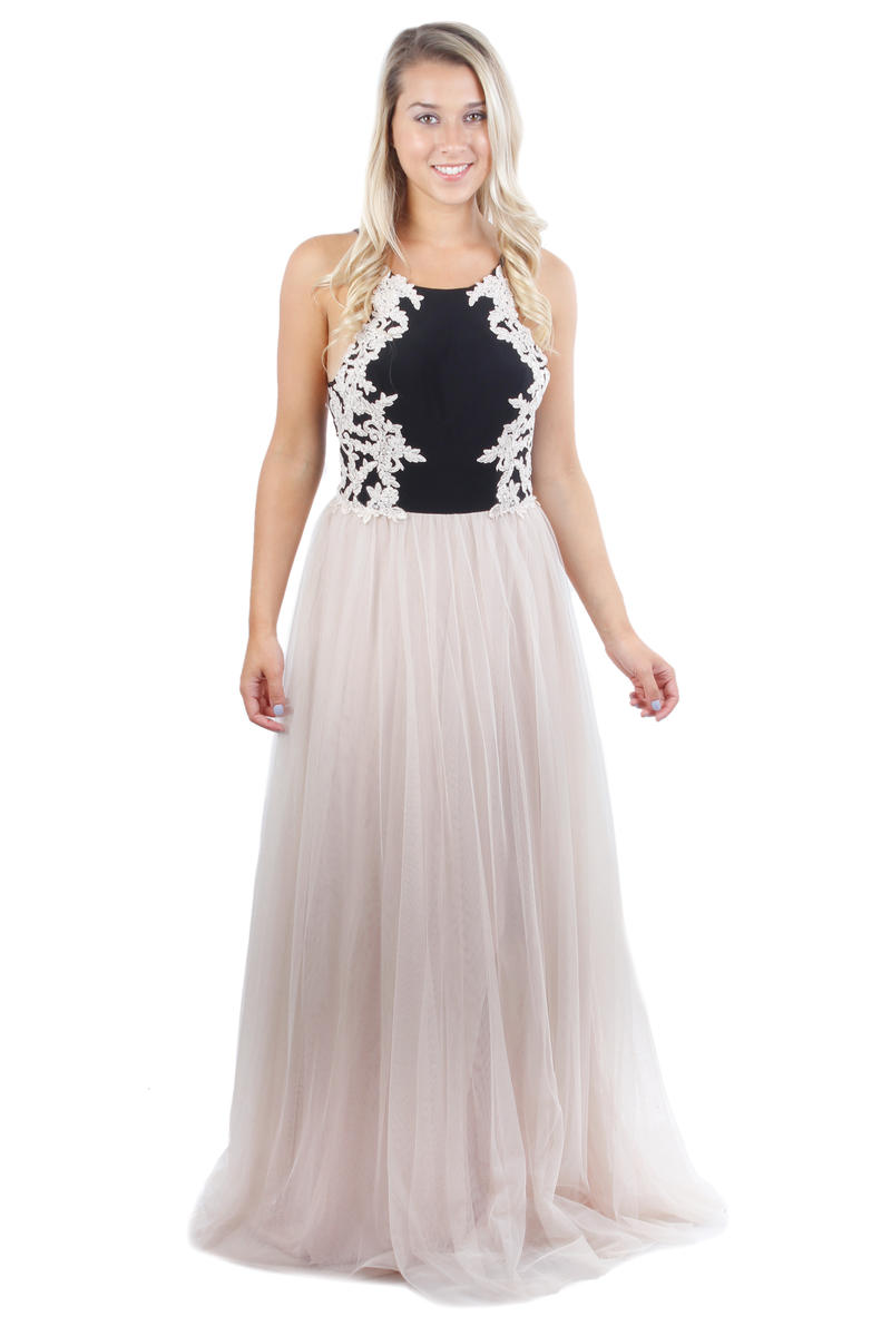 BLONDIE NITE - Embroidered Tulle A-Line Gown