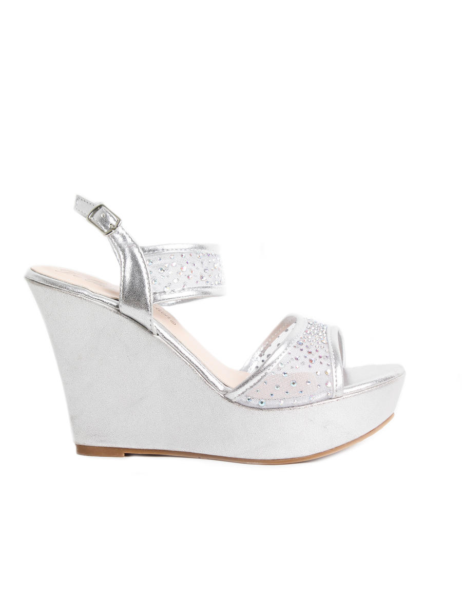 BLOSSOM FOOTWEAR, INC - Embellished Mesh Platform Wedge