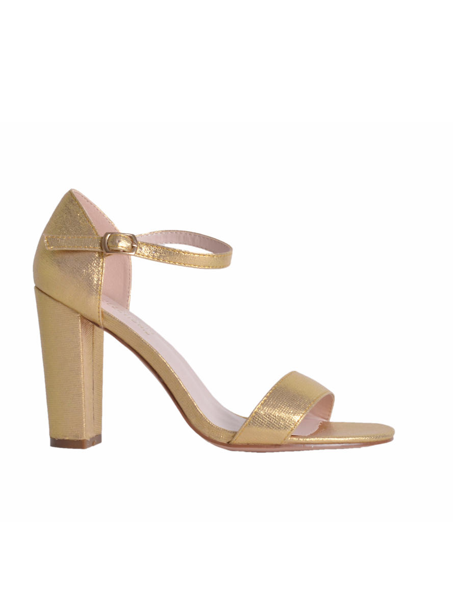 BLOSSOM FOOTWEAR, INC - Chunky High Heel in Metallic