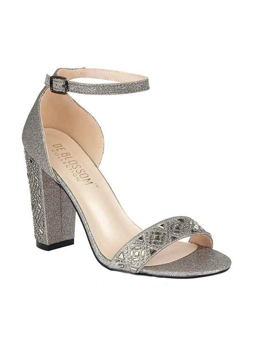BLOSSOM FOOTWEAR, INC - Chunky Glitter And  Rhinestone Ankle Strap