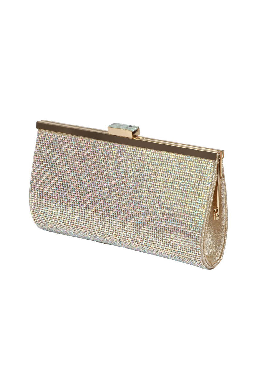 BLOSSOM FOOTWEAR, INC - Jeweled Snap Lock Rhinestone Clutch