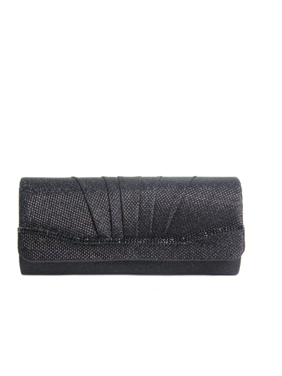 Pleated Glitter Clutch