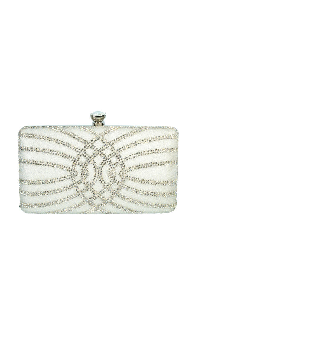 Embellished Metal Frame Clutch