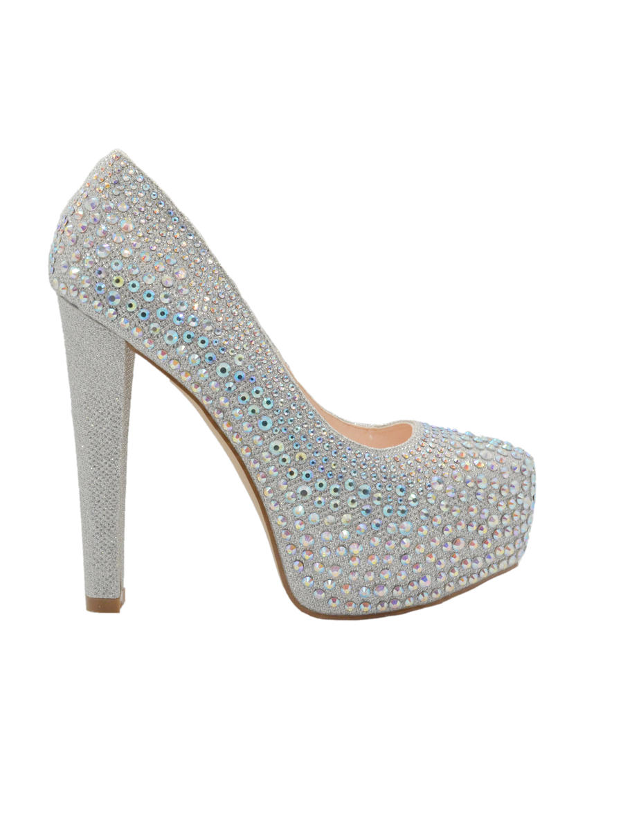 BLOSSOM FOOTWEAR, INC - Stiletto Heel Platform Large Stone Pump