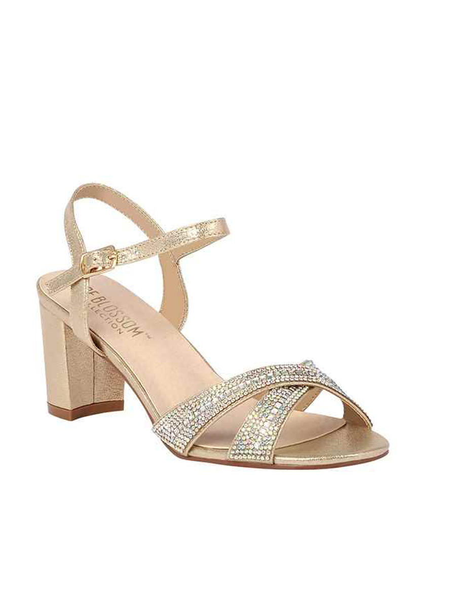 BLOSSOM FOOTWEAR, INC - Low Heeled Criss Cross Rhinestone Strap OLIE23