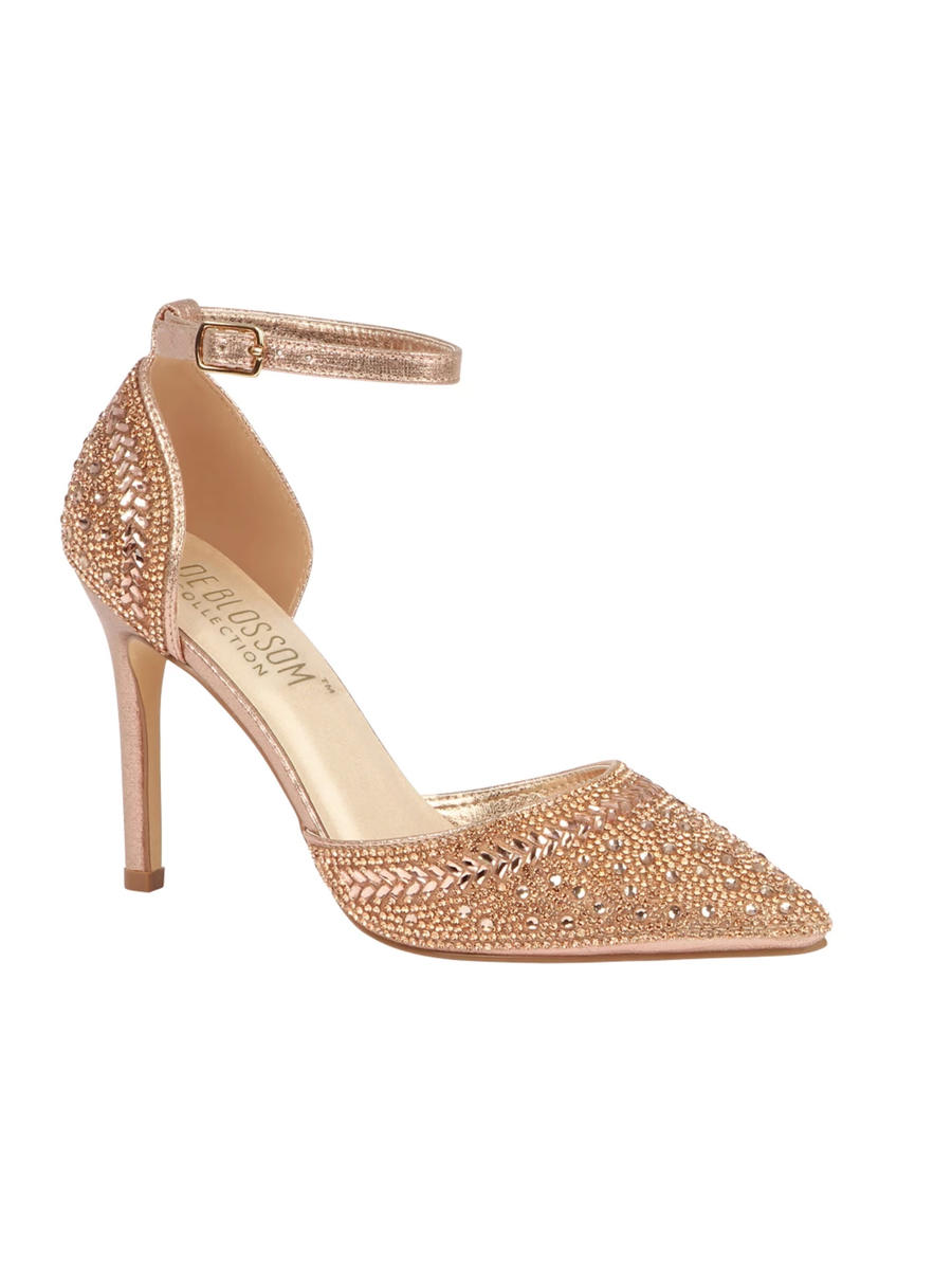 BLOSSOM FOOTWEAR, INC - High Heel Pointy Ankle Strap Rhinestone