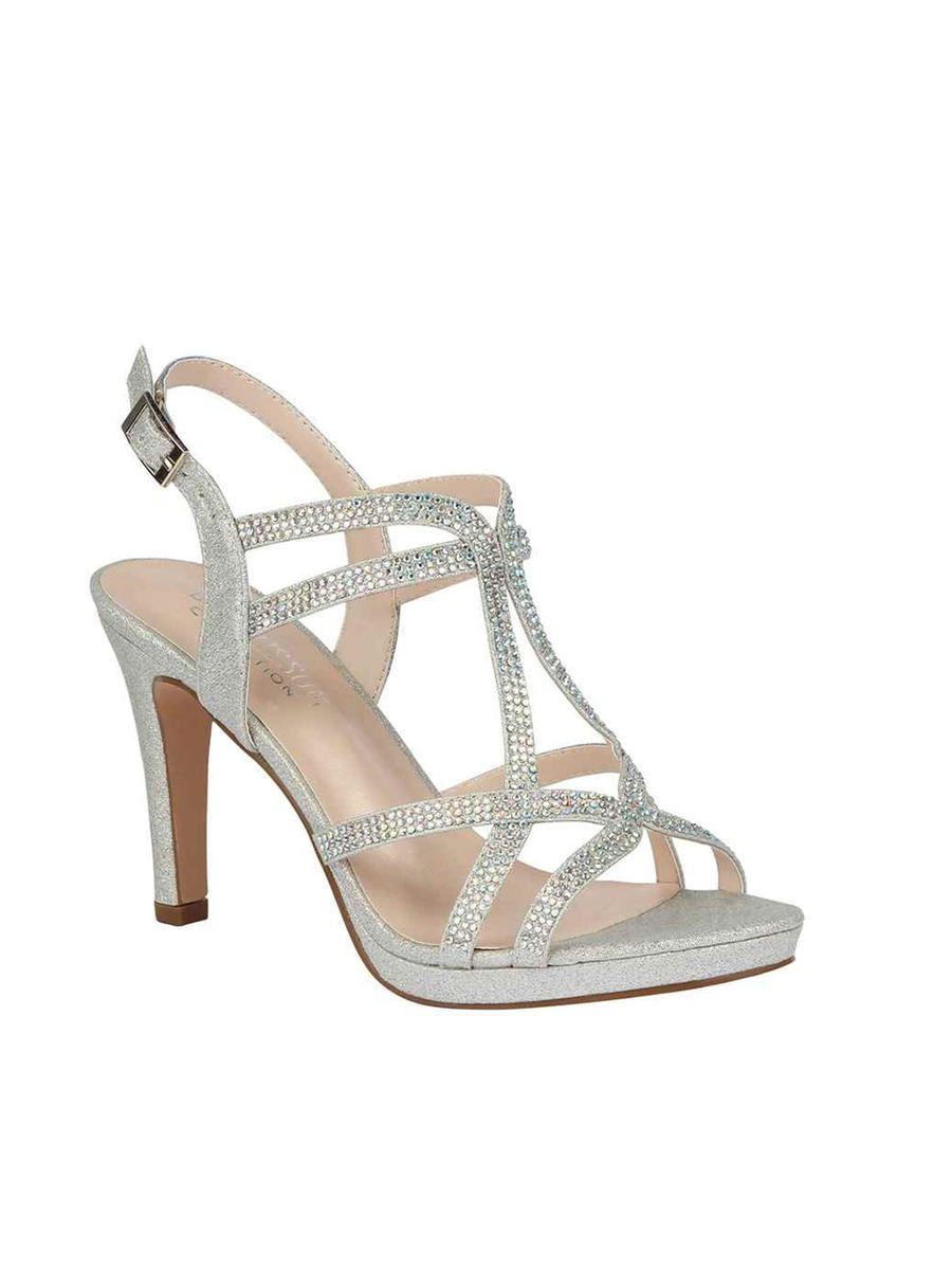 BLOSSOM FOOTWEAR, INC - Mid Heel Glitter and Strappy AB stones