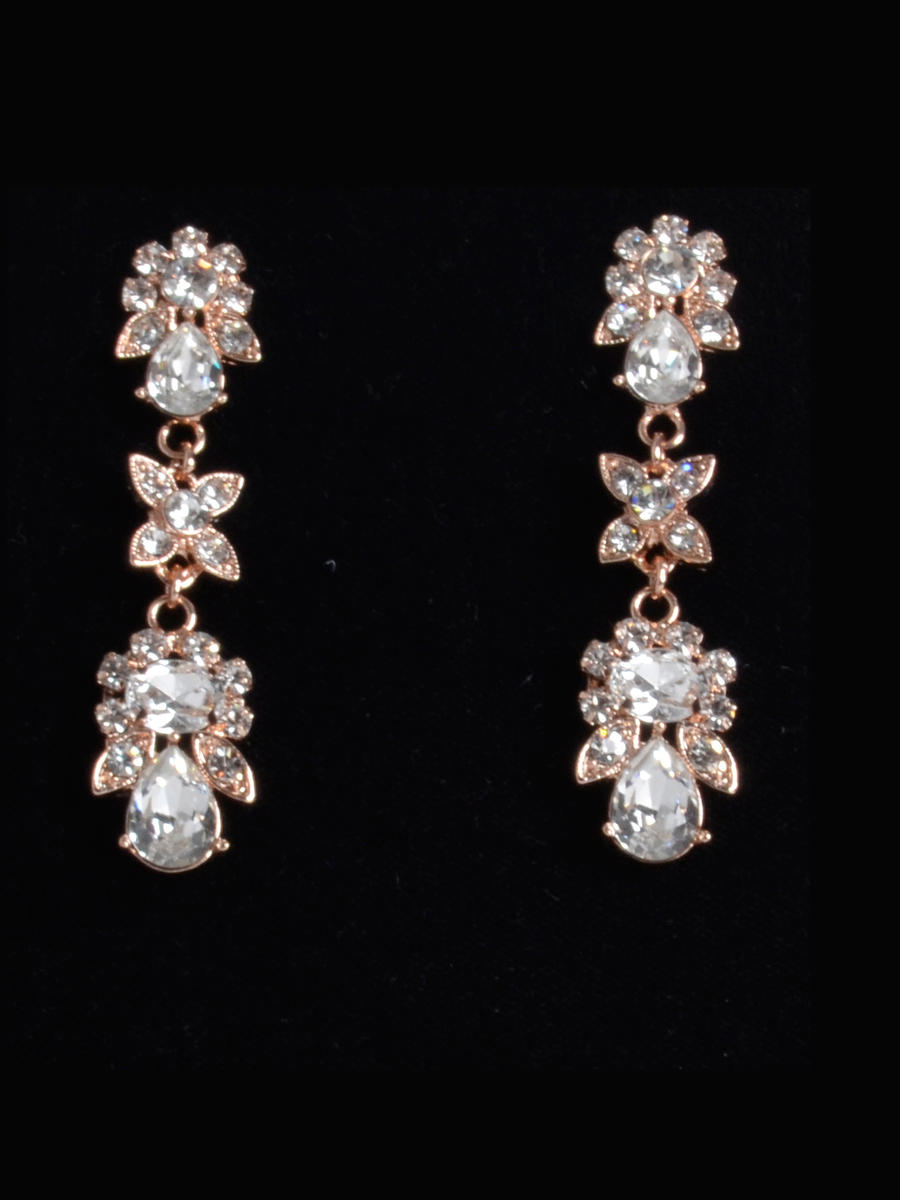 THE BRIDAL VEIL CO - Rhinestone Earrings