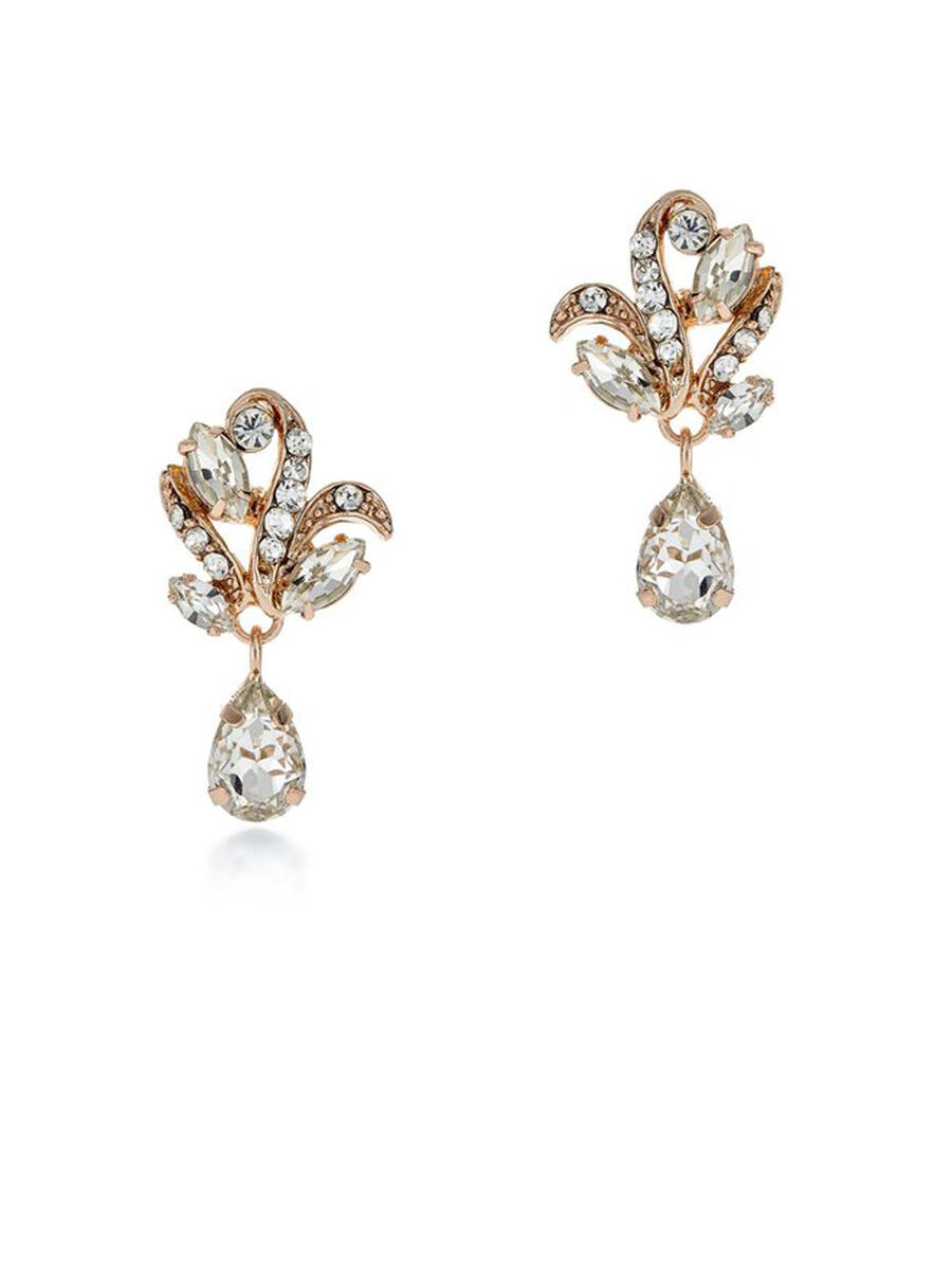 THE BRIDAL VEIL CO - Small Dangle Rhinestone Earring