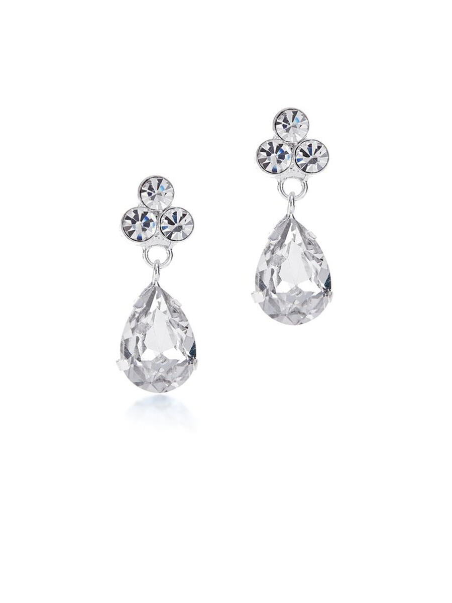 THE BRIDAL VEIL CO - Small Rhinestone Drop Earring