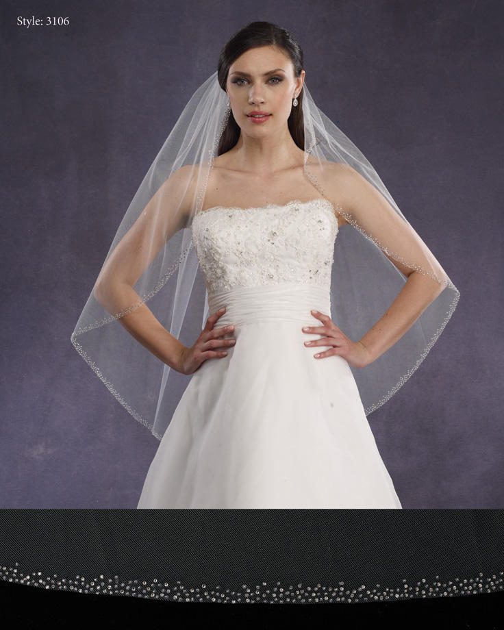 THE BRIDAL VEIL CO - BEADED EDGE
