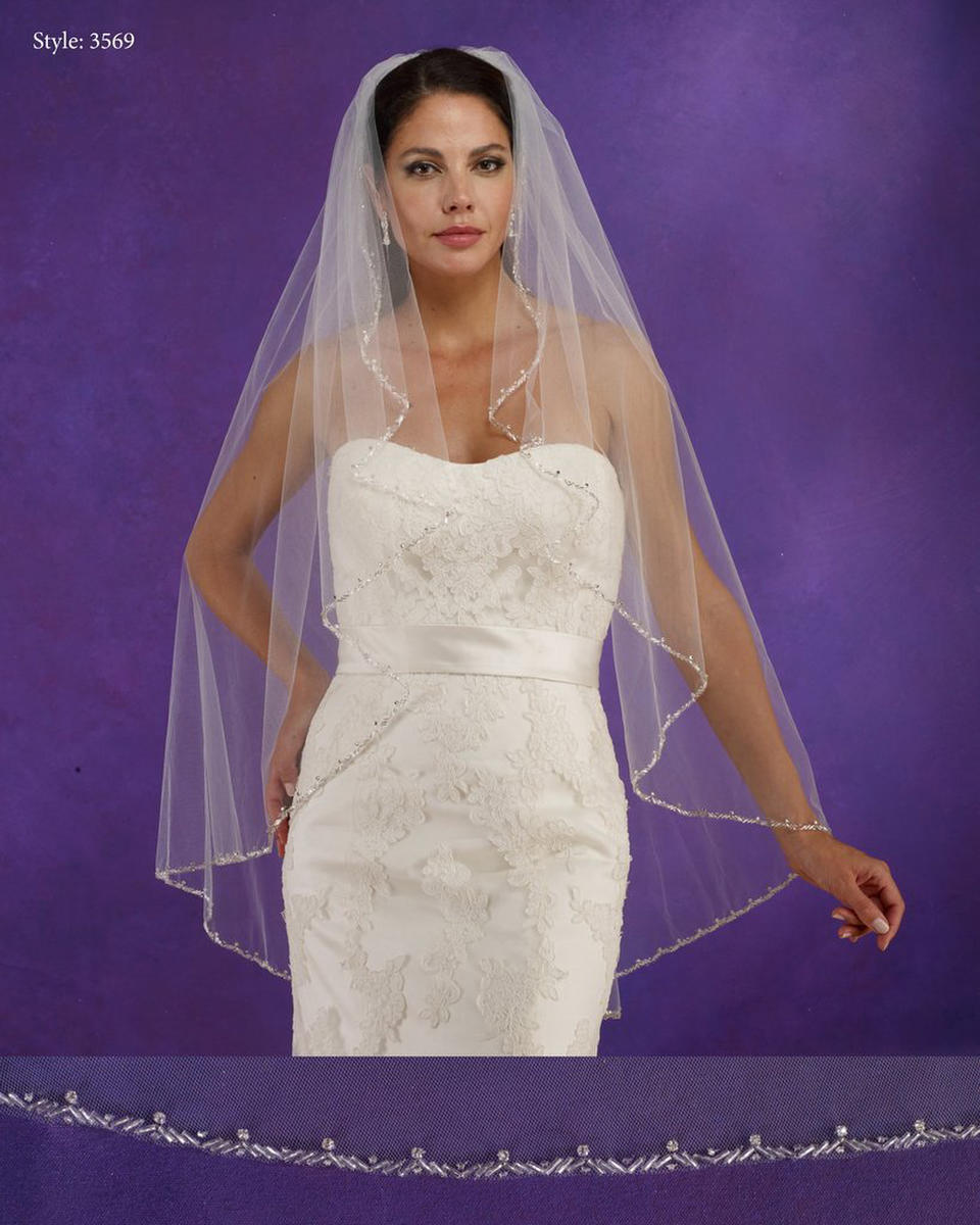 THE BRIDAL VEIL CO - Angel Cut Beaded veil