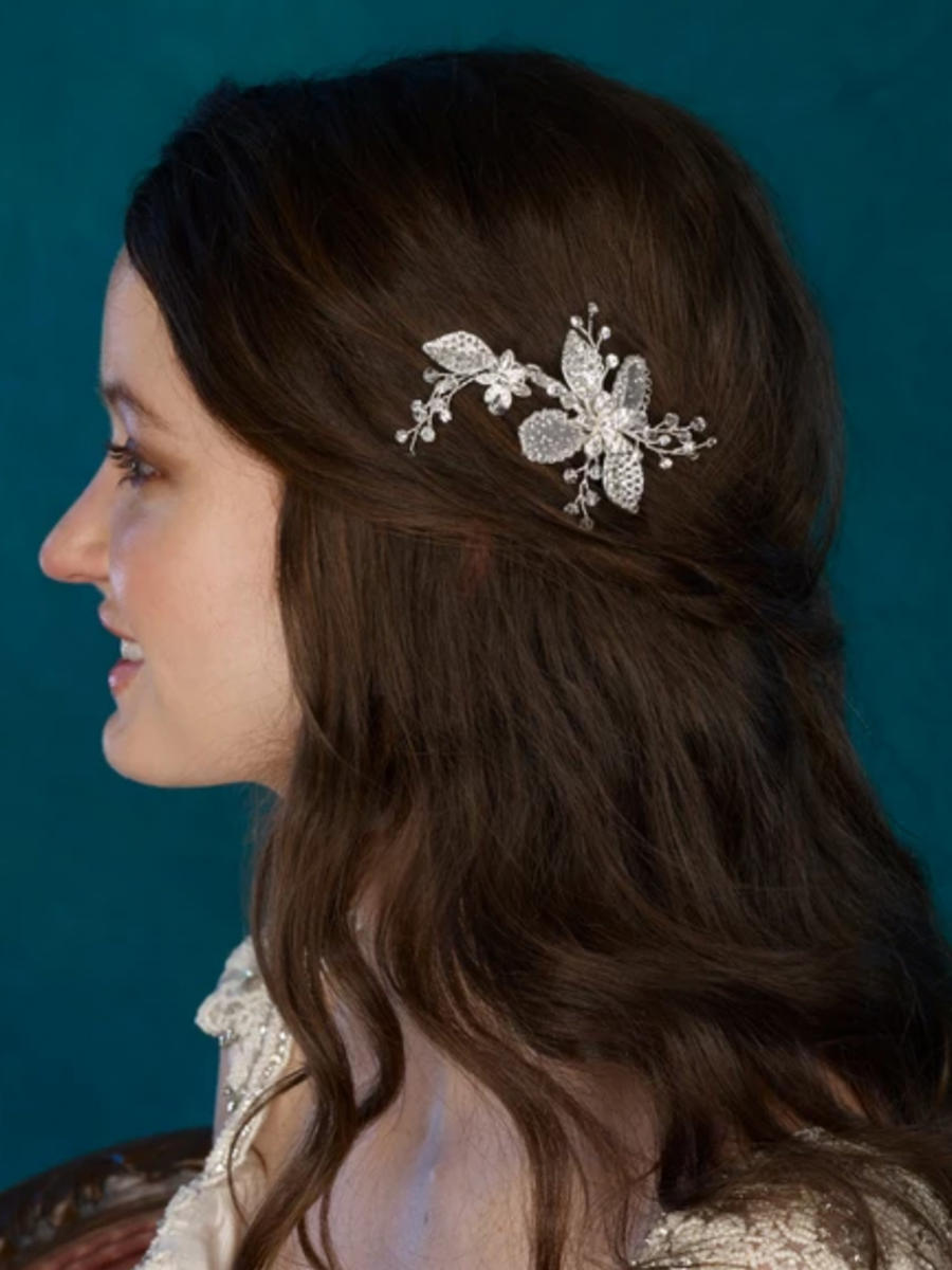 THE BRIDAL VEIL CO - Rhinestone flower clip