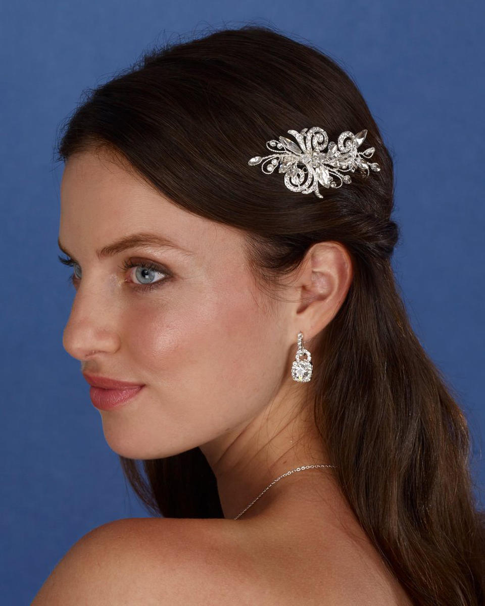THE BRIDAL VEIL CO - Rhinestone Clip With Crystal Hair Clip