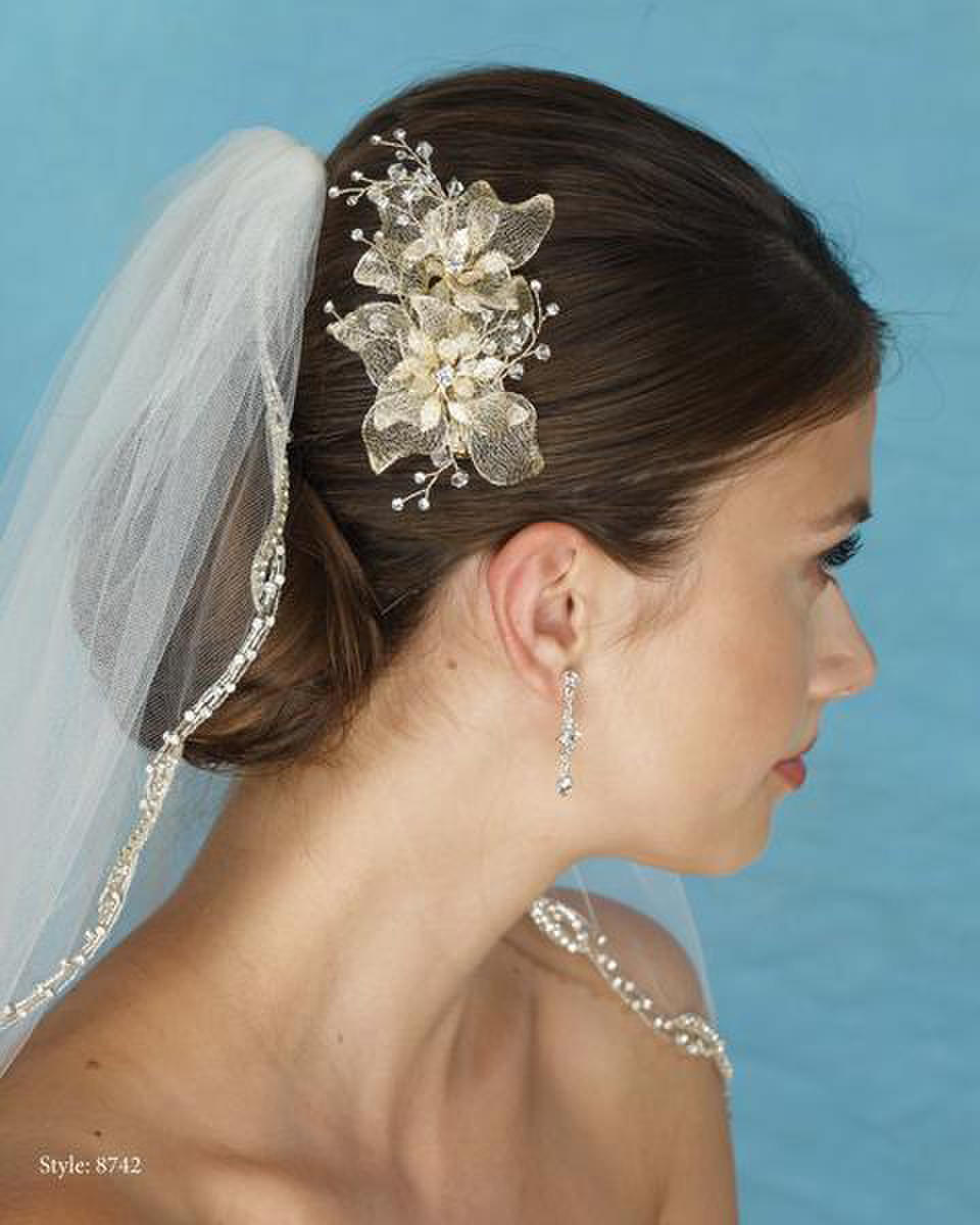 THE BRIDAL VEIL CO - Flower Clip W/Crystal