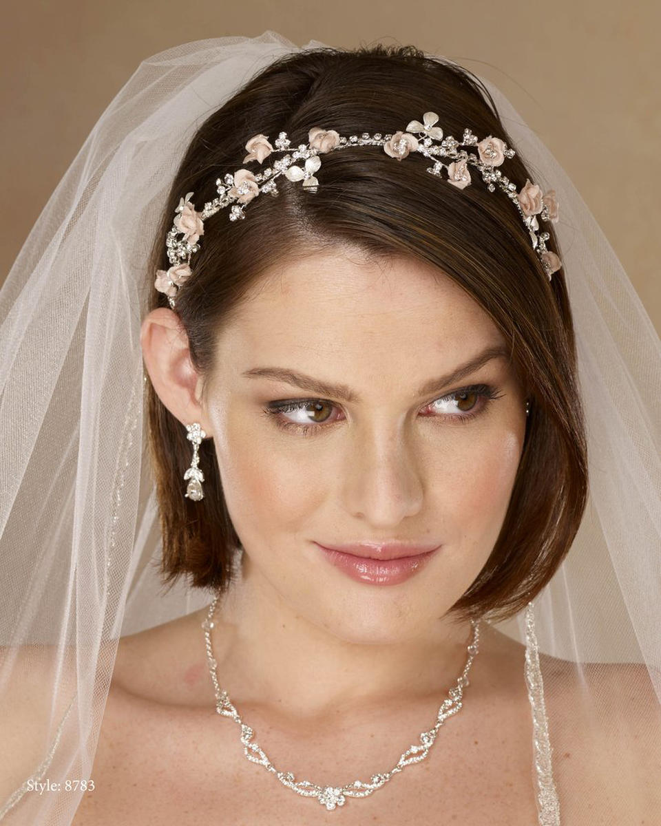 THE BRIDAL VEIL CO - Rhinestone&Flower Band