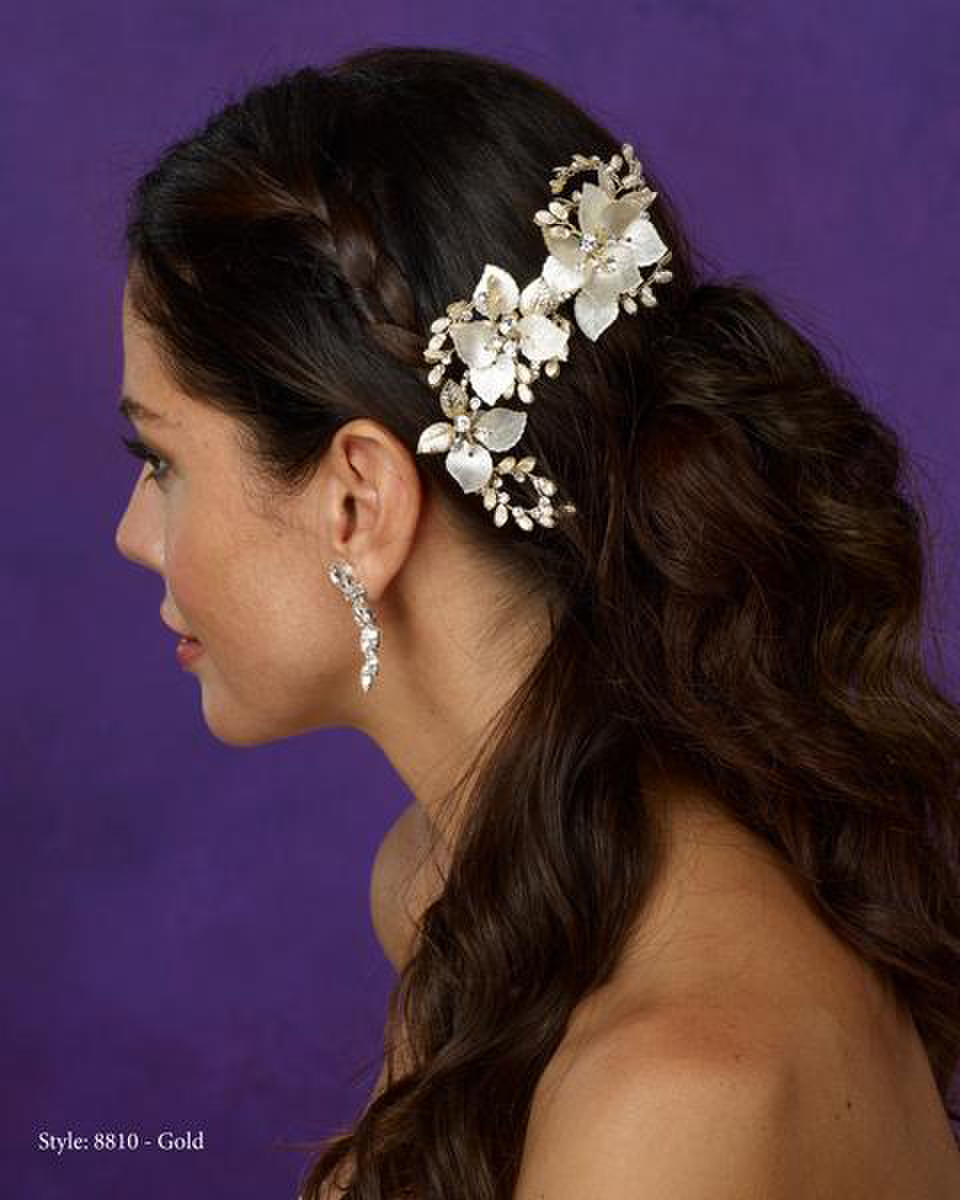 THE BRIDAL VEIL CO - Gold hairclip with shimmer
