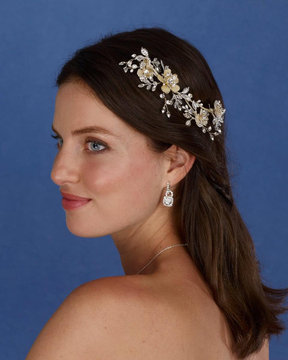 THE BRIDAL VEIL CO - Flower Beaded Hair Clip
