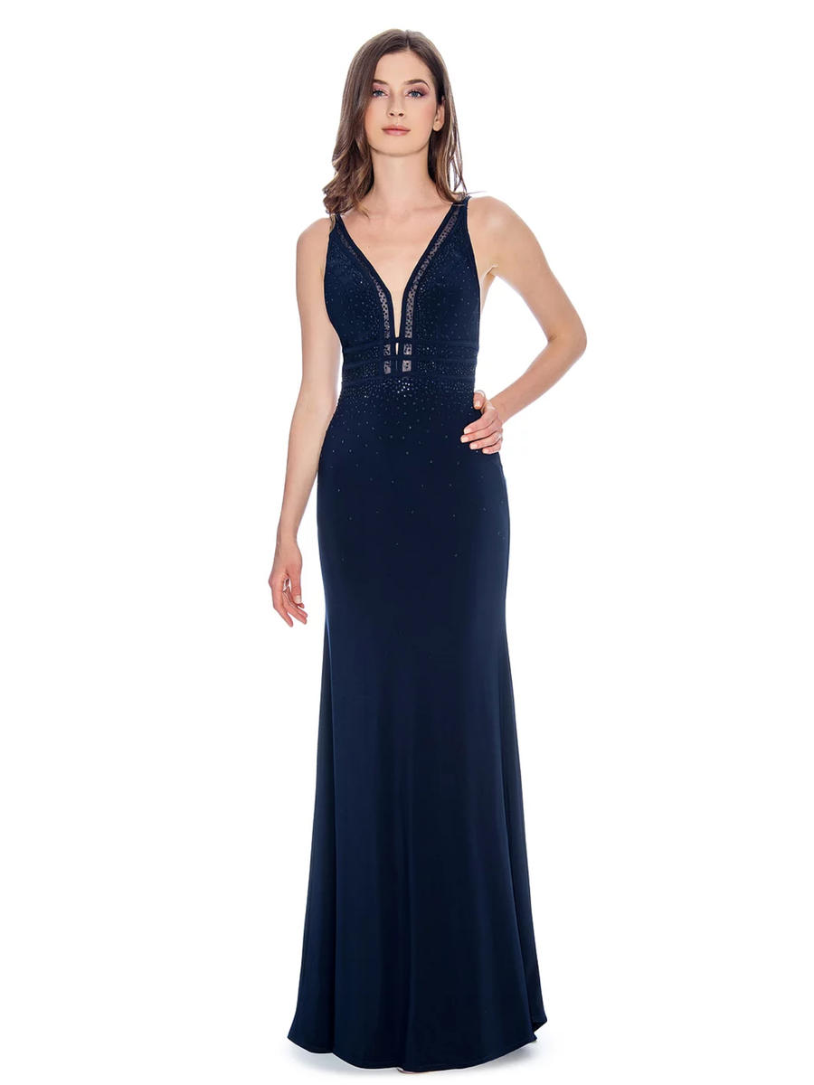CACHET - Lycra Gown-Bead Trimmed Bodice