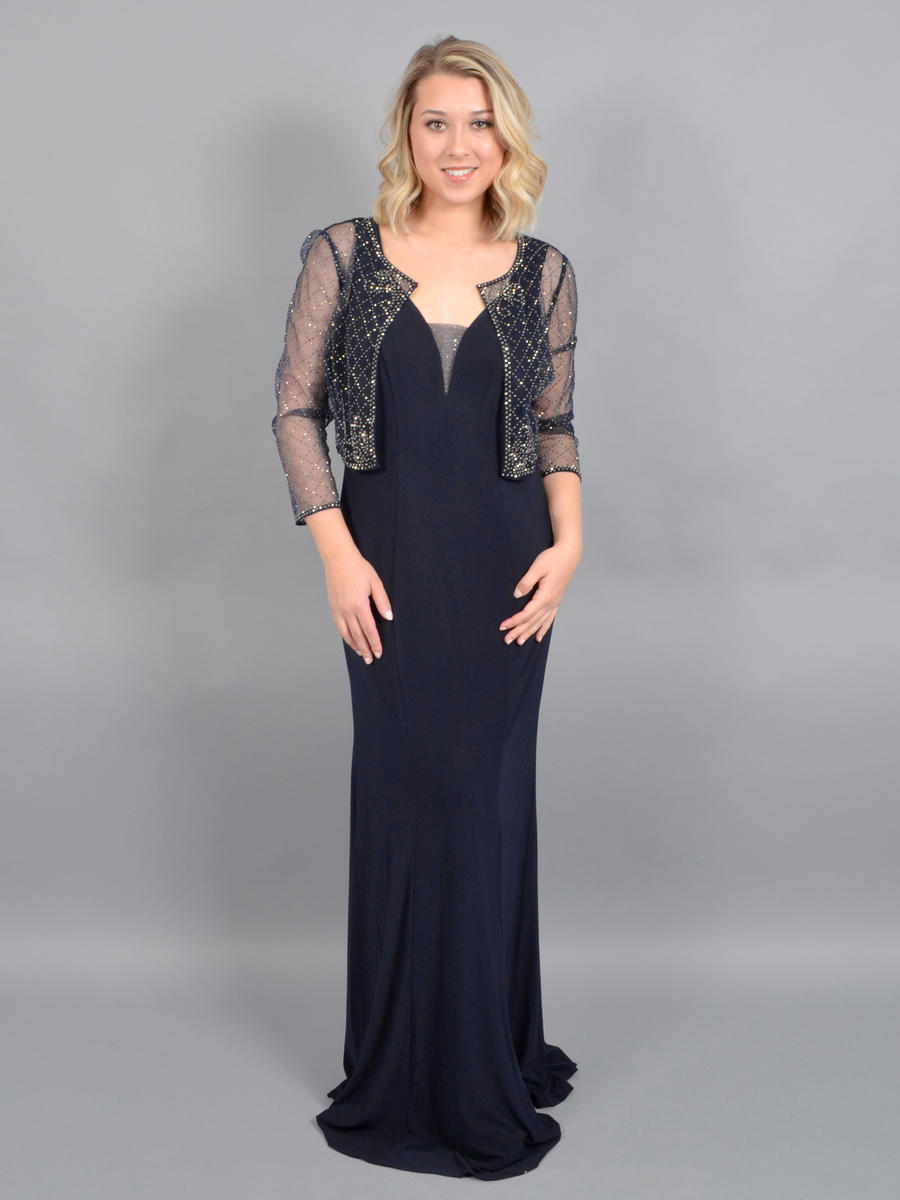 CACHET - Jersey Gown/Sheer Bead Jacket