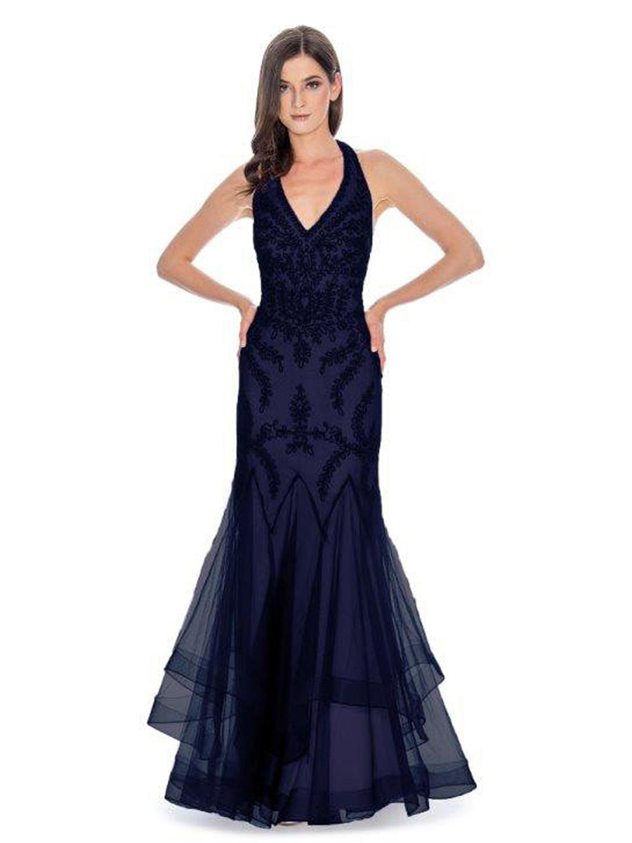 CACHET - Mesh Embroidered Gown