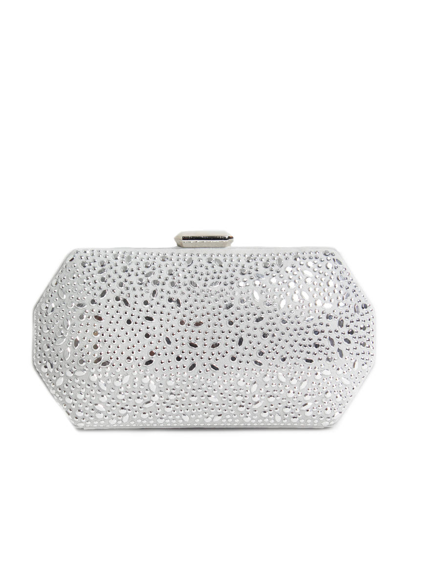 (R&S ACCESORIES) RSA BRANDS LLS - Mirror Embellished Hard Case Clutch