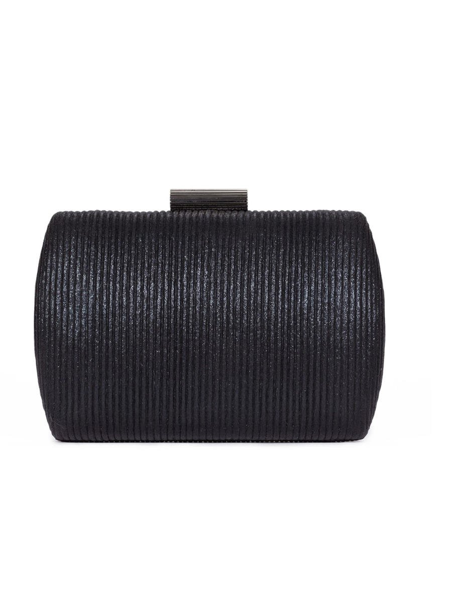 Pleated Hard Frame Dressy Bag