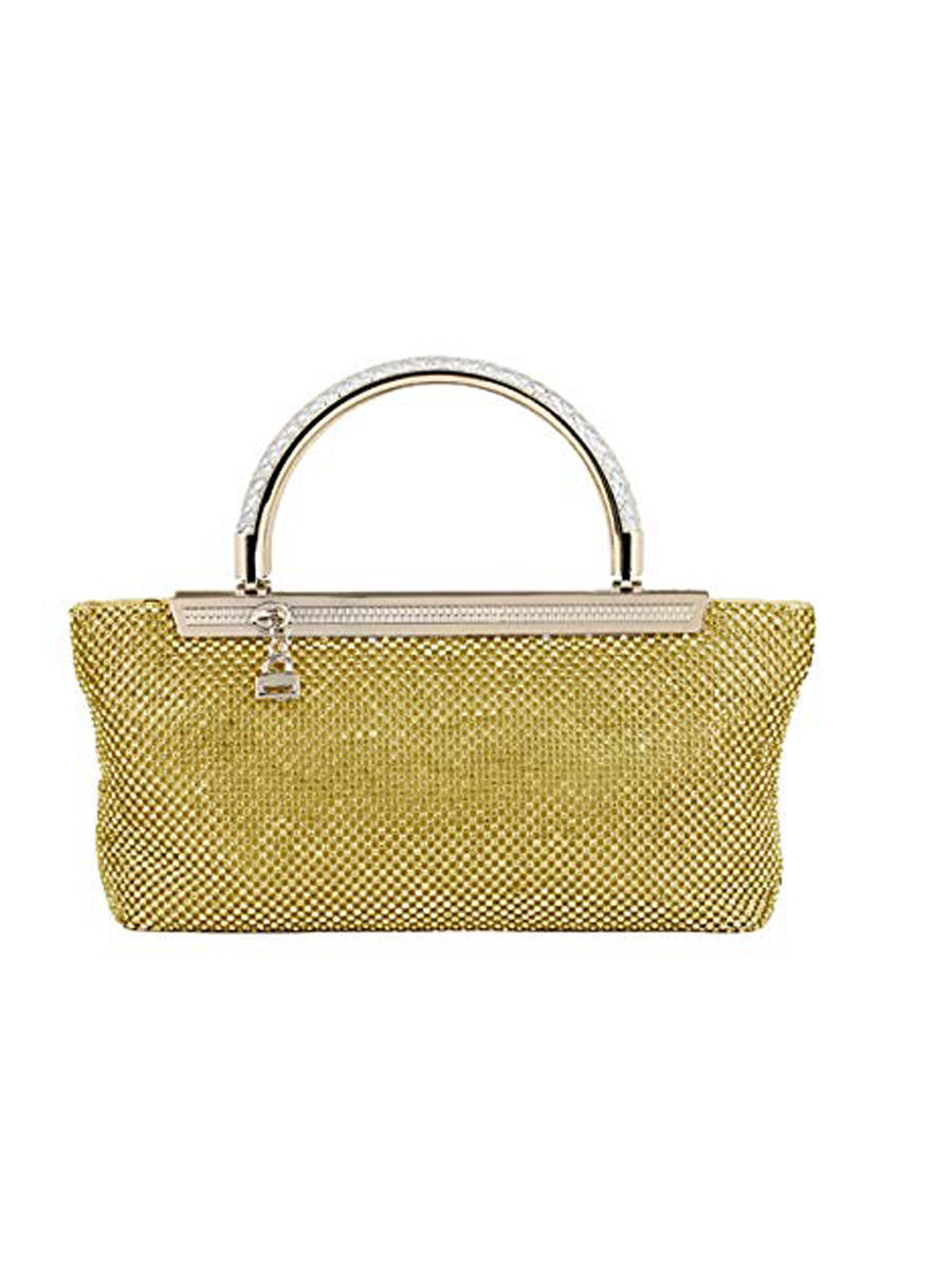 (R&S ACCESORIES) RSA BRANDS LLS - Rhinestone Handle Mesh Clutch Bag