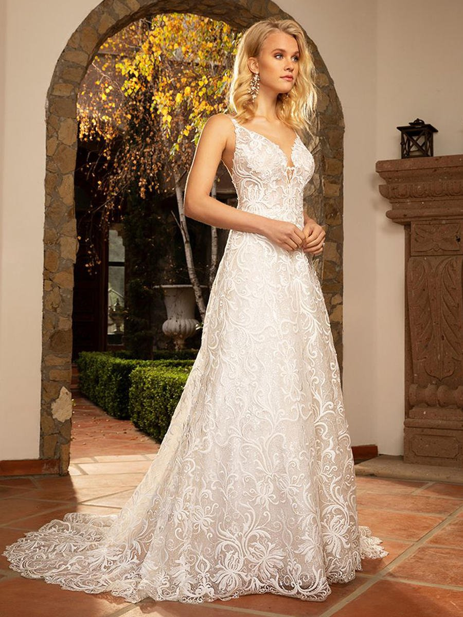 Casablanca - Lace V-Neck Bridal Gown