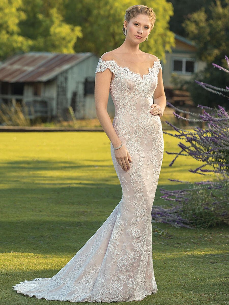 Casablanca - Half Sleeve Lace Bridal Gown