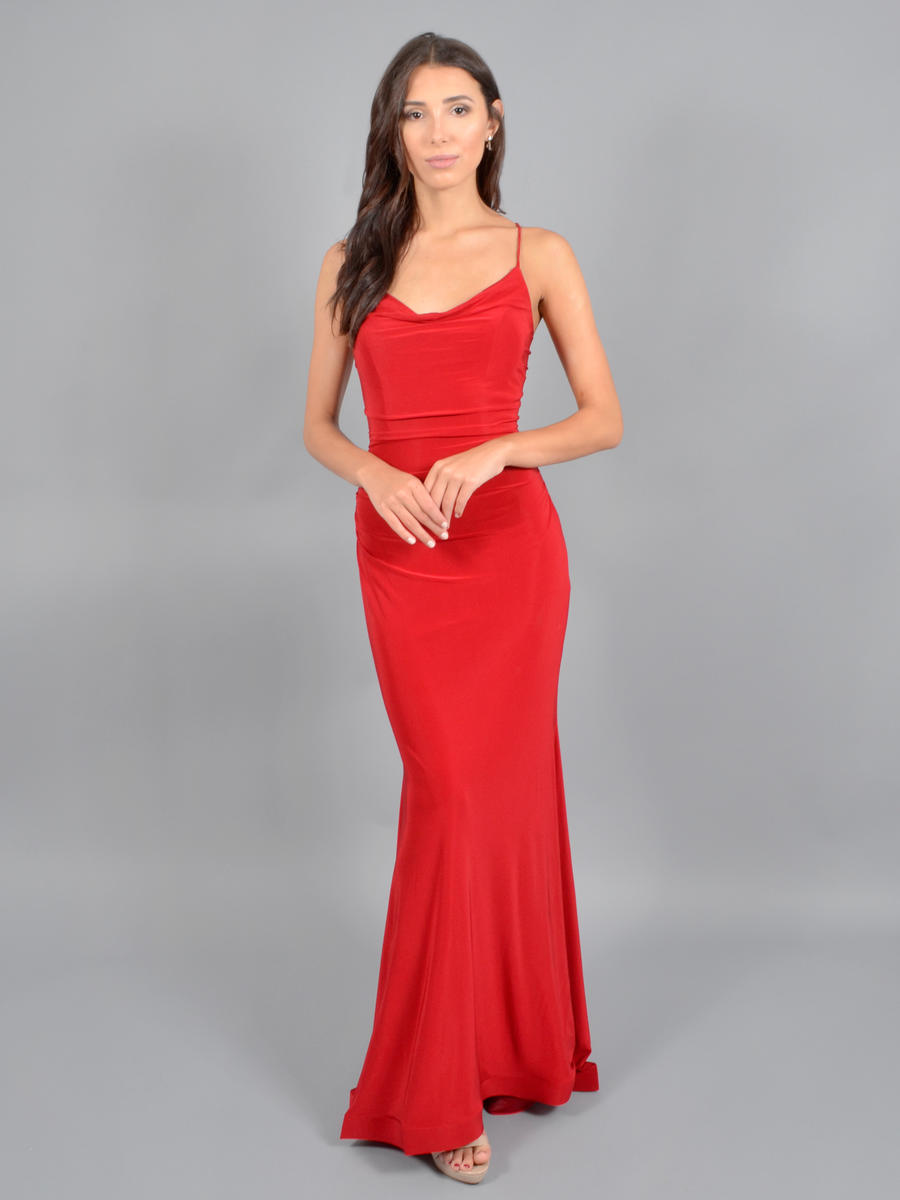 CINDY COLLECTION USA - Lycra Wrap Gown-XX Back