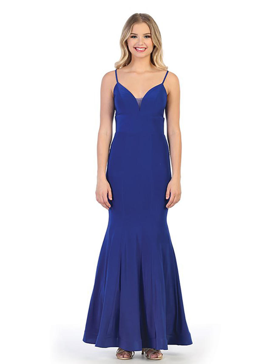 CINDY COLLECTION USA - Satin Gown-Trumpet Hem