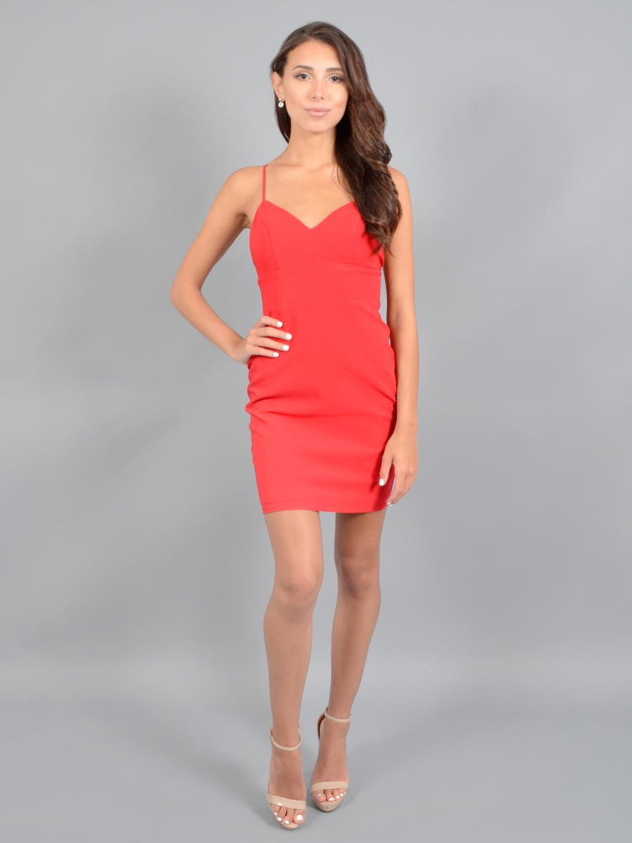CITY TRIANGLES - Satin Dress-Back Bow