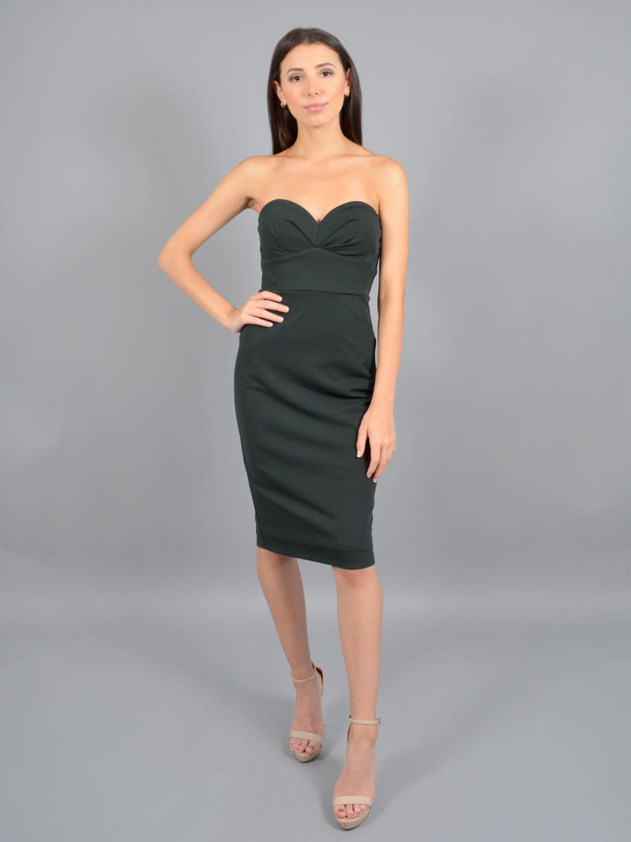 CITY TRIANGLES - Crepe Dress Strapless